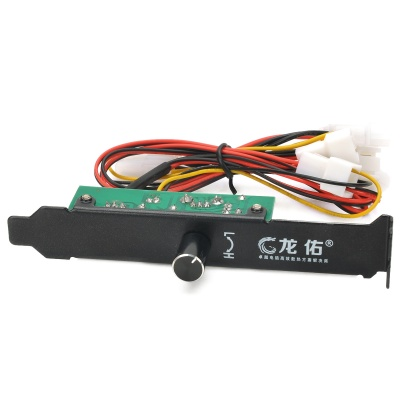 PCI 3-Channel Chassis Fan Speed Controller / Regulator - Multicolored