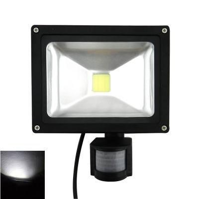 20W 1800lm 6500K Cool White PIR Motion Sensor LED Flood Light - Black