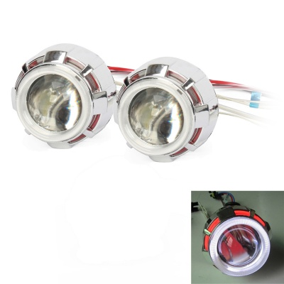 """ZT02 2.5"""" 3000LM 4300K HID Dual Angel Eyes Projector Lens Car Xenon Light - Silver (Pairs)"""