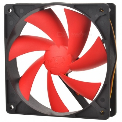 Computer Chassis CPU Cooling  Fan - Black + Red