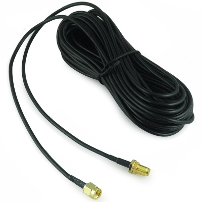 RP-SMA Male to Female Antenna Extension Cable - Black (9m)