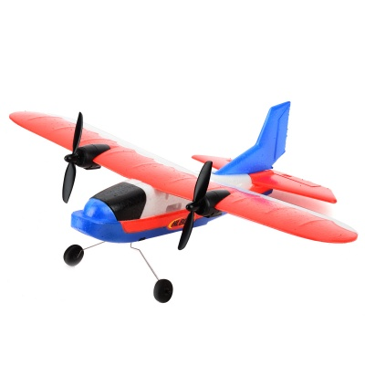 ZY-806 2-CH Remote Control EPP Foam R/C Airplane Glider - Red + Blue + White + Black (6 x AA)