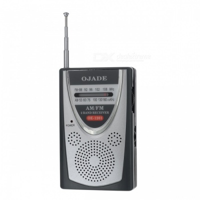 OJADE OE-1201 FM/AM Radio Receiver - Silver + Grey + Black
