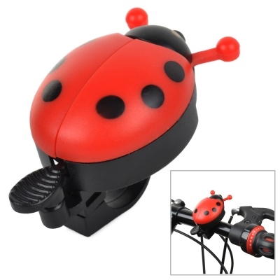 Cute Beetle Style Bicycle Ring Bell - Red + Black