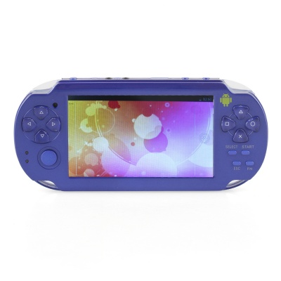 """ESER YXJ-04 4.3"""" Android 4.0 PSP Game Console w/ Wi-Fi / HDMI / Dual-Camera - Blue"""