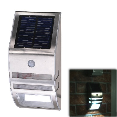 CMI LEH-44014W 1.4W 1-LED White Solar Light / Lawn Lamp / Garden Light - Silver