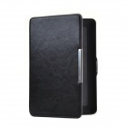 Adsorption Style R64 Pattern Protective PU Leather Case for Amazon Kindle Paperwhite - Black