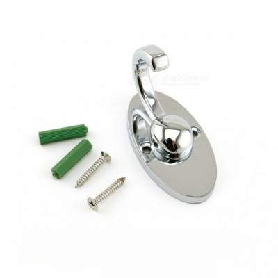 Stainless Steel Apple Double-Hook Clothes Hanger - Silver