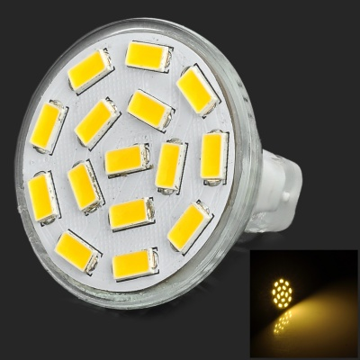 SENCART MR11 GU4 4.5W 320lm 15-SMD LED Warm White Spotlight - Silver