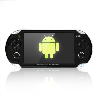 "JXD S5110 5"" Capacitive Screen Single Core Android 4.0.3 Wi-Fi Smart Game Console - Black"