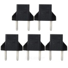 20112 6A 2-Round-Pin Plug Power Adapters - Black + Silver (125~250V)