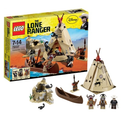 Genuine LEGO®  the Comanche Camp with the Lone Ranger and Tonto - 79107