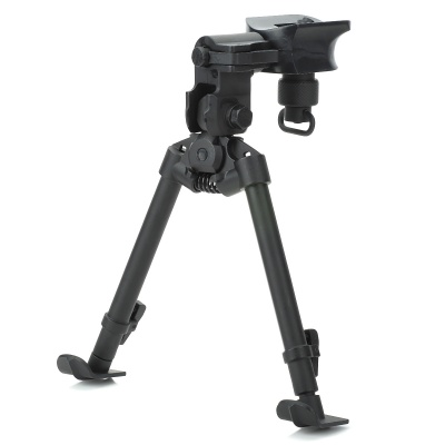 27cm Universal Stainless Steel Rifle BIPOD for Rifles - Black