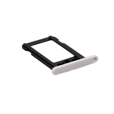 Replacement SIM Card Tray for White Iphone 5C - White + Black
