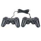 Dual-Player Double Shock USB Game Controller Clear Blue