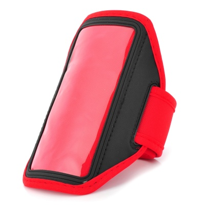 Outdoor Sports Protective Neoprene Armband for LG NEXUS 5/E980 - Red + Black