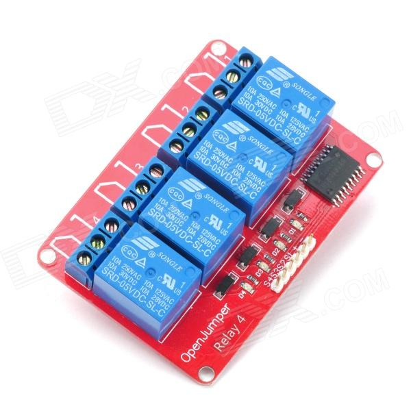 OPENJUMPER 4-CH Relay Module Compatible with Arduino