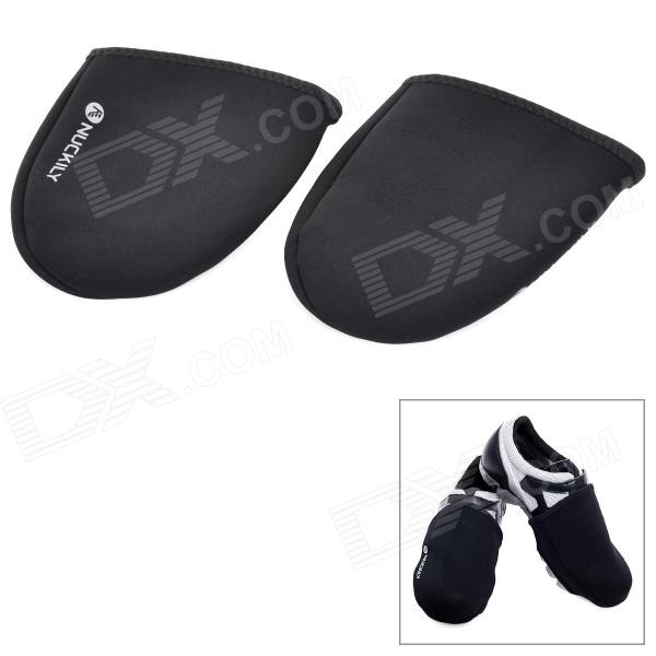 NUCKILY Neoprene Windproof Warm Shoe Front Covers - Black (2PCS)