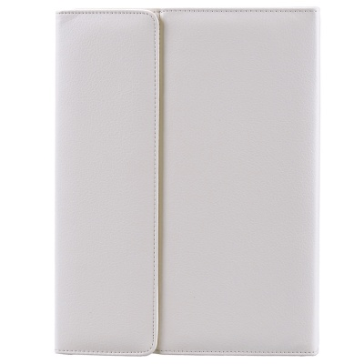Wireless Bluetooth V2.0 76-Key Keyboard w/ PU Leather Case Cover Stand for Ipad AIR - White