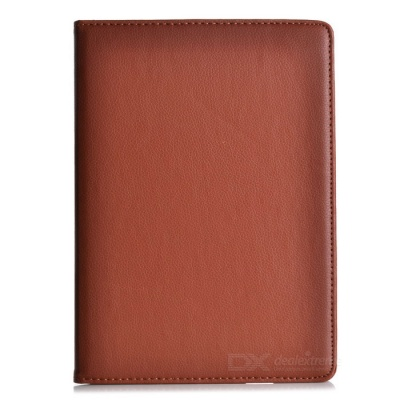 360 Degree Rotation Protective PU Leather Case Cover Stand for Ipad AIR - Brown
