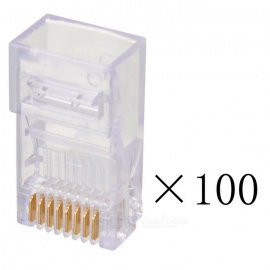 AMP RJ45 Network Crimp Plugs - Translucent (100PCS)