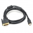 HDMI 19-pin Male to DVI 24+1 Male Connection Cable - Black (1.8m)