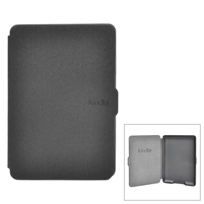 Protective PU Case w/ Auto Sleep for Kindle Paperwhite - Black