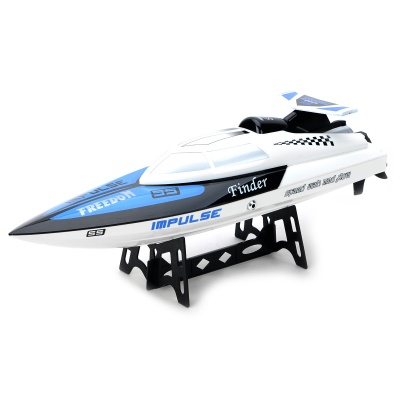 WLtoys WL912 AC Rechargeable 3-CH R/C Speedboat w/ Radio Remote Controller - White