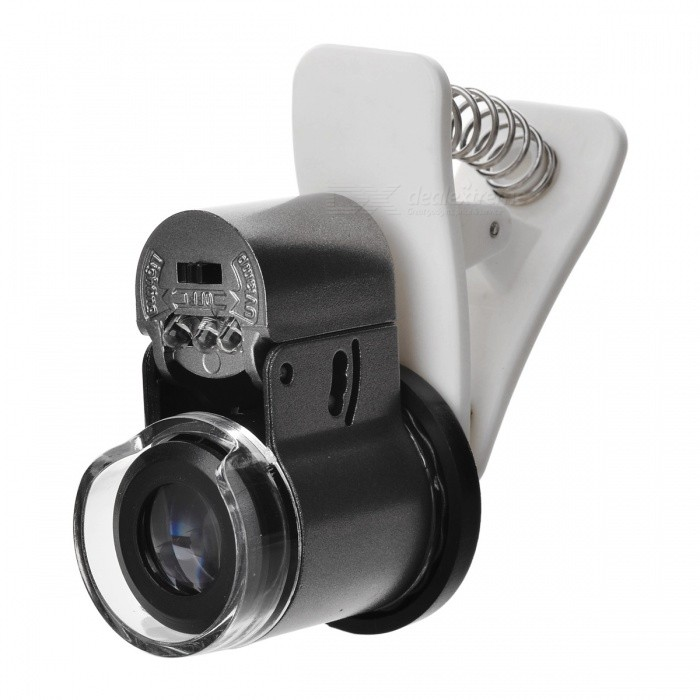 Universal Clip-on 65X Microscope for IPHONE IPAD Samsung HTC - Silver