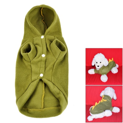 Cute Dinosaur Style Plush Dog Apparel Pet Clothes - Green + Yellow (Size M)