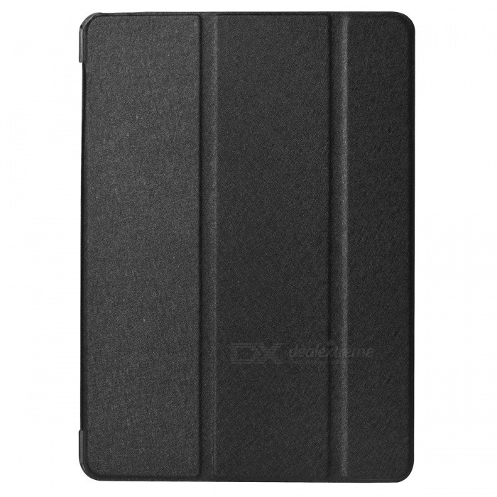 Protective 3-Section Folding PU Case w/ Auto Sleep for Ipad AIR -Black