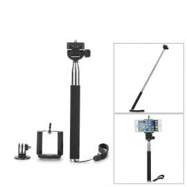 Adjustable Handheld Selfie Monopod for Camera / Cellphone - Black