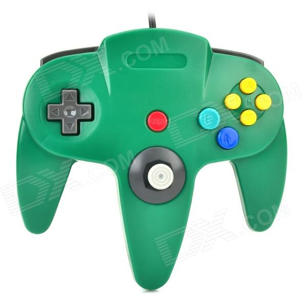 Wired Dual-Vibration Controller for N64 - Green