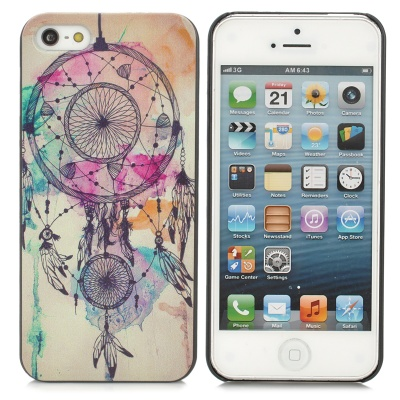 Dream Catcher Style PC Back Case for IPHONE SE/5/5S - Black + Beige