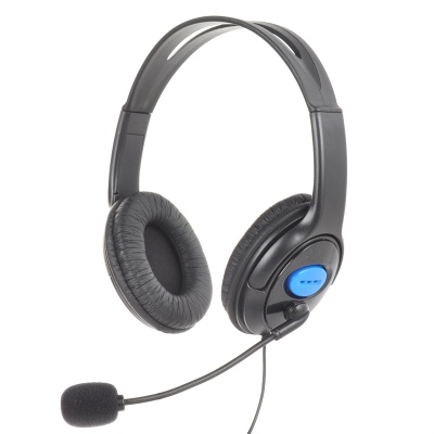 Professional Wired Gaming Headset w/ Microphone for PS4 - Black (3.5mm Plug / 120cm-Cable)