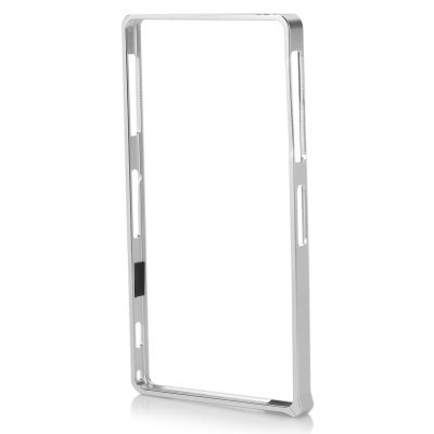 S-What Aluminum Alloy Bumper Frame Case for Sony L39h / Xperia Z1 - Silver