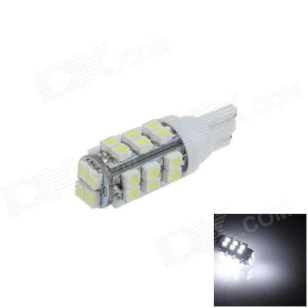 T10 / 192 / W5W 1.5W 130lm 28-SMD 3528 LED White Car Side Light / Instrument / Reading lamp - (12V)