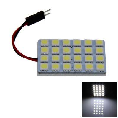 T10 / BA9S / Festoon 4W 200lm 24*SMD 5050 LED White Car Lamp (12V)