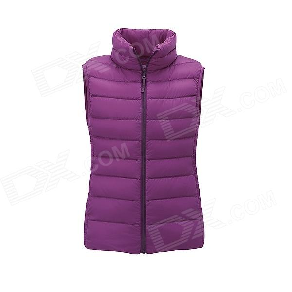 Purple Women Casual Jackets Ultra Light Down Vest by Uniqlo