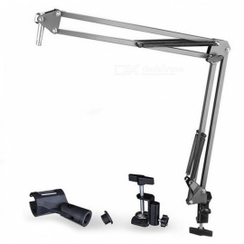 Professional 360 Degree Hanging Arm Desktop Holder for Microphone - Black