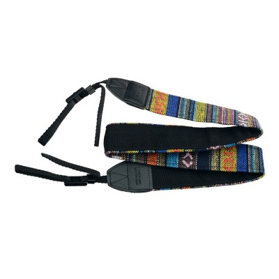 Multicolored Anti-Slip Nylon Shoulder Strap for SLR Camera - Black