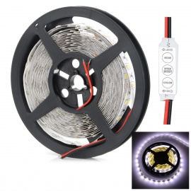 HML 72W 14000lm 300-LED Cold White Light Strip w/ Mini Controller (5M)