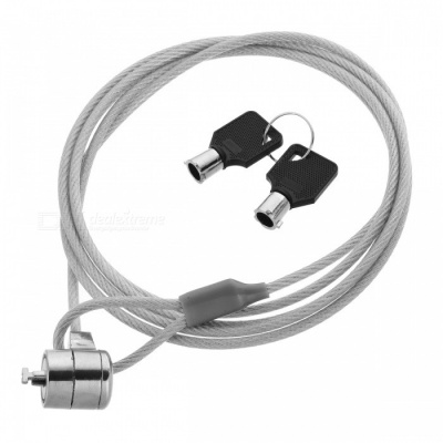 Wire Rope Security Cable with Key Lock for Laptops (1.8m-Length)