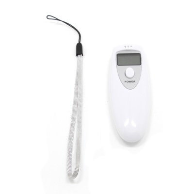 1'' LCD Digital Breath Alcohol Tester - White + Grey