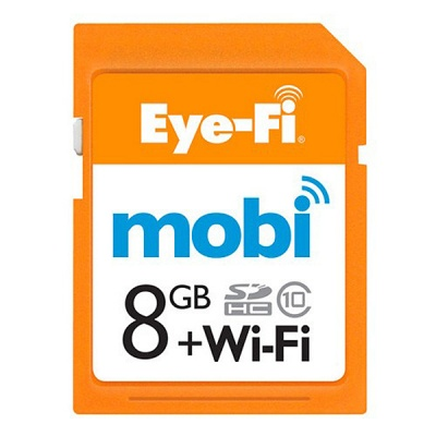Eye-Fi Mobi 8GB SDHC Class 10 Wireless Memory Card