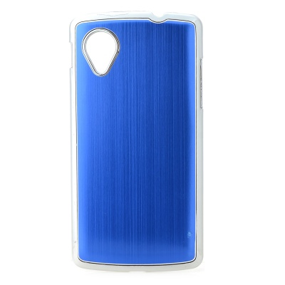 Protective Aluminium Alloy Back Case for LG Nexus 5 - Blue