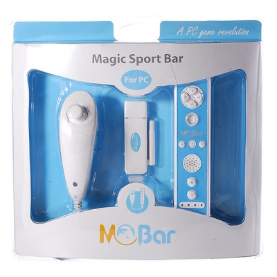 Mobar 2.4GHz Wireless Game Controls with USB Receiver for PC