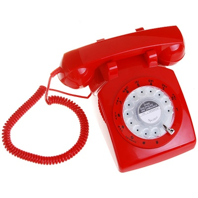 Classic Land Line Telephone (Red)