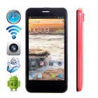 "CUBOT P5 Dual-Core Android 4.2.2 WCDMA Bar Phone w/ 4.5"" IPS, GPS and Dual-SIM - Red"