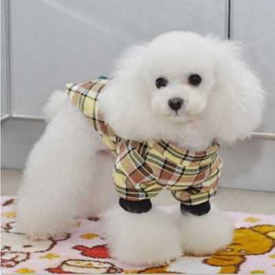 Thchi PT03 Plaid Flannel Cowboy Shirt for Pet - Yellow (Size-L)